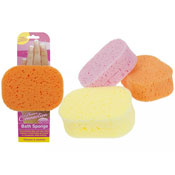 Bath Sponge With Hand Holding Cavity