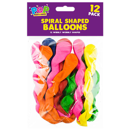 Spiral Shaped Balloons 12 Pack