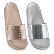 Ladies Metallic Coloured Pool Slides