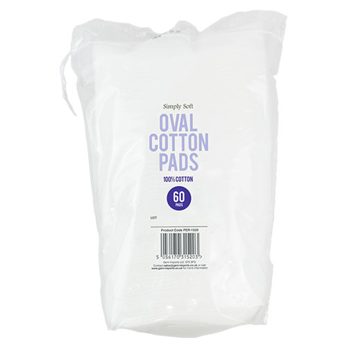 Oval Cotton Pads 60 Pack