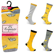 Ladies Exquisite Computer Socks Animal Stripe