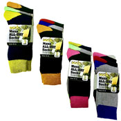 Socksation Mens All Day Socks Coloured Heel/Toe