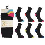 Ladies Fancy Design Ankle Socks Heel And Toe