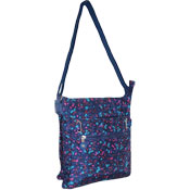 Ladies Shoulder Bag With Zip Pockets Bubble Print