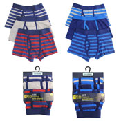 Boys Striped Trunks With Keyhole