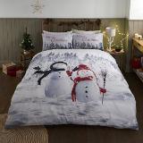 Photographic Snowman And Friends Duvet Set