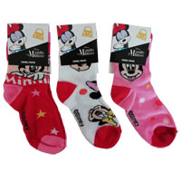 Girls Official Minnie Mouse Assorted Socks