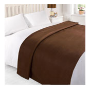 Snug & Cosy Fleece Blanket Chocolate