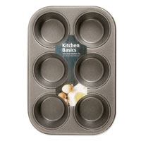 Non Stick 6 Cup Deep Muffin Tray