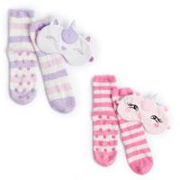 Ladies Cosy Unicorn Socks and Eye Mask Set