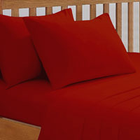 68 Pick Fitted Sheet Red