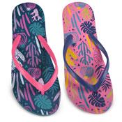 Ladies Cactus/Leaf Print Flip Flop