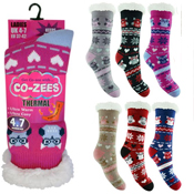 Ladies Owl Thermal Bootie Socks