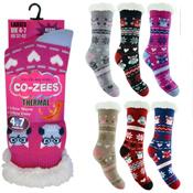 Ladies Owl Thermal Bootie Socks