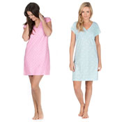 Ladies Jersey Night Dress Butterfly & Spots