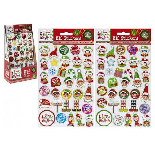 Christmas Elf Vinyl Puffy Stickers