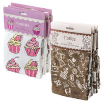 2 Pack Velour Terry Tea Towels
