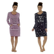 Ladies Star Gazer Print Nightie