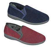 Mens Fine Cord Slip On Slipper