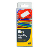 Bloc Key Ring Tags 25 Pack