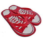 Mens Sneaker Print Flip Flops