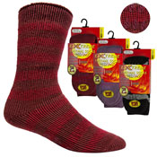 Ladies Extreme Thermal Socks Red With Gripper 2.45 TOG