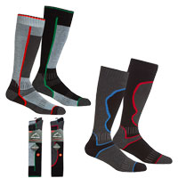 Mens 2 Pack High Leg Ski Socks