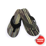 Mens Flip Flops Camo Stripes