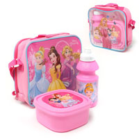 Official 3 Piece Disney Princess Lunch Bag Set