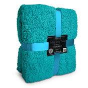 Supersoft Snug Teddy Throw Teal