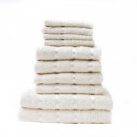 10 Piece Towel Bale Cream Egyptian Cotton