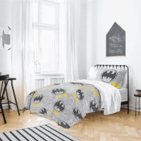 Official Batman Grey Logo Duvet Set