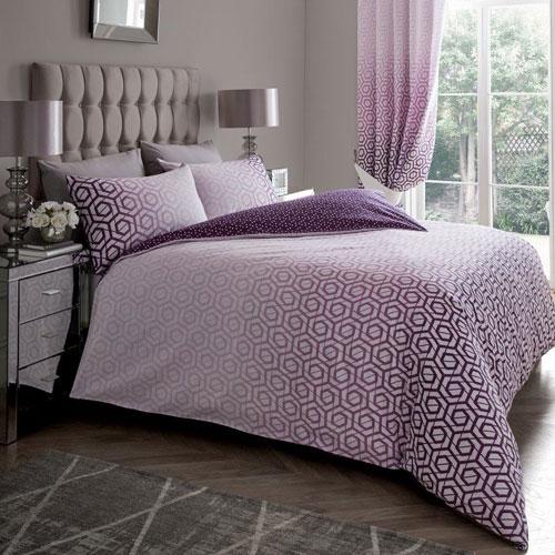 Ohari Ombre Purple Luxury Duvet Set