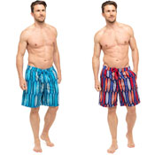 Mens Board Print Swim Shorts