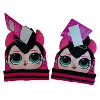 Official Girls LOL Surprise Knitted Hat With Pom Pom