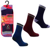 Ladies Heat Machine 1.6 Tog Thermal Socks Assorted