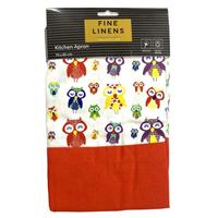 Colourful Owl Cotton Apron