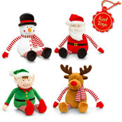 Dangly Stripey Christmas Soft Toys 15CM