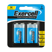 Exercell 9V Batteries 2 Pack