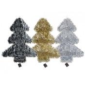 Jumbo Shiny Foil Tinsel Covered Christmas Tree