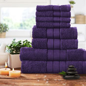 Luxurious 8 Piece Towel Bale Set Aubergine