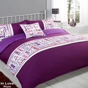 5 Piece Bed in a Bag Set Inlove Plum
