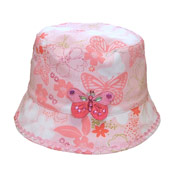 Girls Bush Hats Butterfly Print
