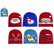 Christmas Festive Design Beanie Hats Assorted