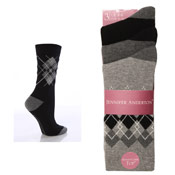 Ladies Socks Argyle Jennifer Anderton