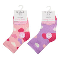 Baby Girls 1 Pair Lounge Socks With Grippers