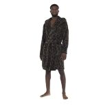 Mens Camo Print Hooded Dressing Gown