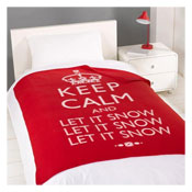 Snug and Cosy Fleece Keep Calm Let it Snow