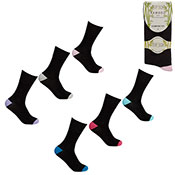 Ladies Non Elastic Bamboo Socks Coloured Heal/Toe
