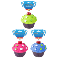 Cupcake Squeaky Dog Toy